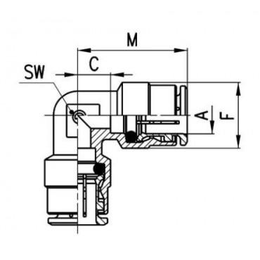 Szybkozłącze wtykowe proste S6510