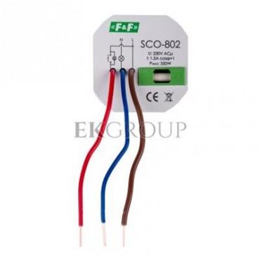 Ściemniacz przyciskowy z pamięcią 0-350VA szary SCO-802-135636