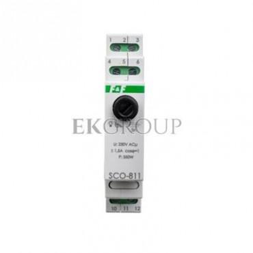 Ściemniacz przycisk szary 0-350VA 230V SCO-811-135643