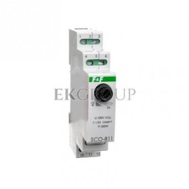 Ściemniacz przycisk szary 0-350VA 230V SCO-811-135644
