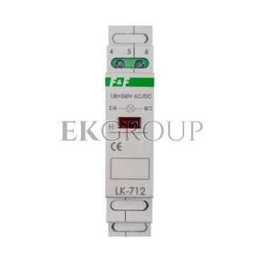 Lampka modułowa czerwona 130-260V AC/DC LK-712R-133443