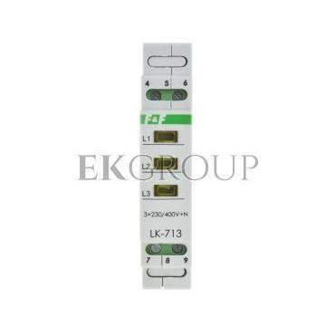 Lampka modułowa 3-fazowa żółta 3x230V N AC LK-713Y-133486
