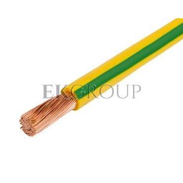 Przewód instalacyjny H07V-K (LgY) 6 żółto-zielony /100m/-146298