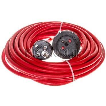 Kabel przedłużający (przedłużacz) 10m czerwony 1x230V H05VV-F 3G1,5 1167464-148883