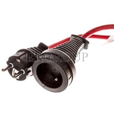 Kabel przedłużający (przedłużacz) 10m czerwony 1x230V H05VV-F 3G1,5 1167464-148884