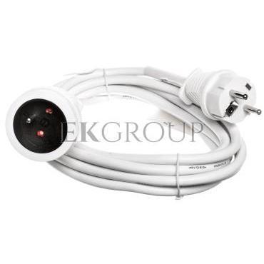Kabel przedłużający (przedłużacz) 3m biały 1x230V H05VV-F3G1,5 1168434-148886