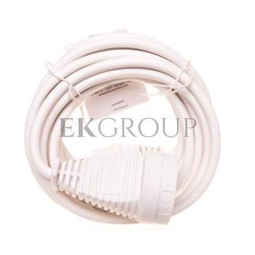 Kabel przedłużajacy (przedłużacz) 5m biały 1x230V H05VV-F3G1,5 1168444-148888
