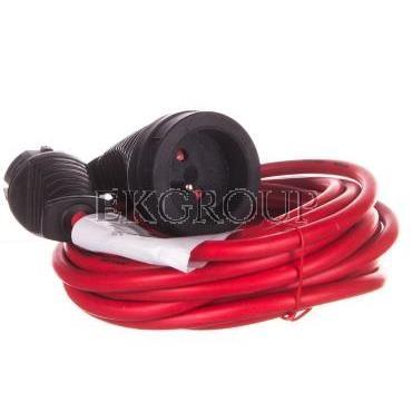 Kabel przedłużający (przedłużacz) 5m czerwony 1x230V H05VV-F 3G1,5 1167454-148889