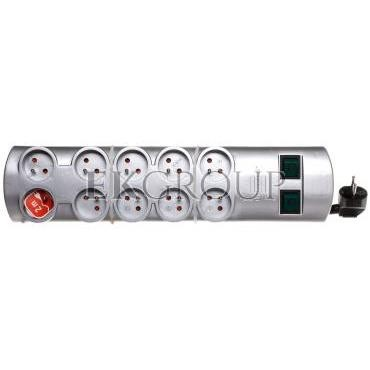 Listwa zasilająca Primera-Line 2m 10 gniazd srebrna H05VV-F 3G1,5 1153394120-148913
