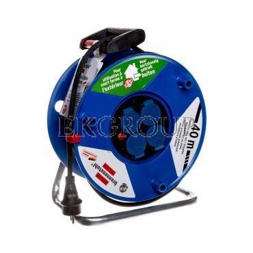 Przedłużacz bębnowy Garant IP44 40m 4x230V H05RR-F 3G2,5 czarny 1208344-148875
