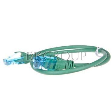 Kabel krosowy (Patch Cord) U/UTP kat.5e zielony 0,5m DK-1512-005/G-150305