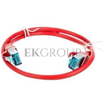 Kabel krosowy (Patch Cord) U/UTP kat.5e czerwony 0,5m DK-1512-005/R-150318