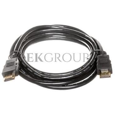 Kabel połączeniowy HDMI Highspeed 2.0 z Eth. GOLD Typ HDMI A/HDMI A, M/M czarny 2m AK-330107-020-S-148059
