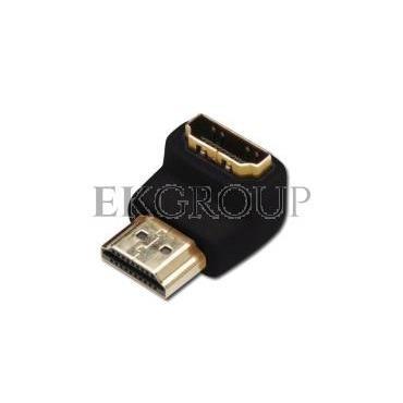 Adapter HDMI Highspeed 2.0 z Eth. kątowy Typ HDMI A/HDMI A, M/Ż czarny AK-330502-000-S AK-330502-000-S-148063