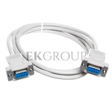 Kabel połączeniowy RS232 null-modem Typ DSUB9/DSUB9, Ż/Ż beżowy 1,8m AK-610100-018-E-148090