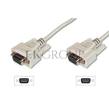 Kabel połączeniowy RS232 1:1 Typ DSUB9/DSUB9, Ż/Ż beżowy 5m AK-610106-050-E-148097