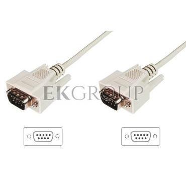 Kabel połączeniowy RS232 1:1 Typ DSUB9/DSUB9, M/M beżowy 3m AK-610107-030-E-148101