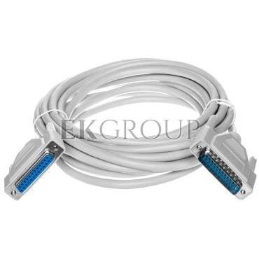 Kabel przedłużający LPT 1:1 Typ DSUB25/DSUB25, M/Ż beżowy 5m AK-610201-050-E-148109