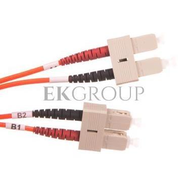 Patch cord światłowodowy SC/SC duplex MM 50/125 OM2 LSOH 2m pomarańczowy DK-2522-02-150393