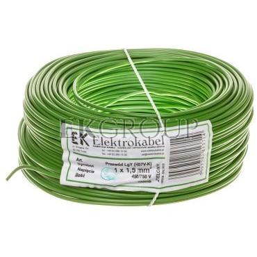 Przewód instalacyjny H07V-K (LgY) 1,5 zielony /100m/-146804