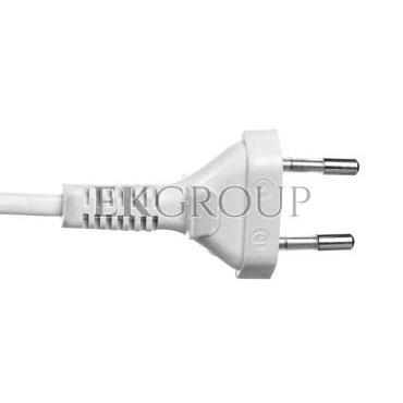 Sznur przyłączeniowy z wyłącznikiem SP/W-190cm biały SP/W-190/2X0,5/-BIA YNS10000496-149475