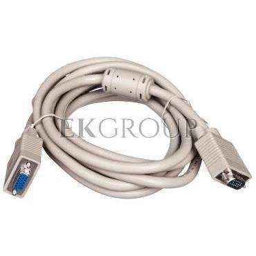Kabel przedłużający SVGA Typ DSUB15/DSUB15, M/Ż beżowy 3m AK-310203-030-E-147892