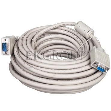 Kabel przedłużający SVGA Typ DSUB15/DSUB15, M/Ż beżowy 15m AK-310203-150-E-147882