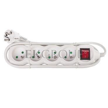 Przedłużacz z wyłącznikiem 4-gniazda z/u 2m /H05VV-F 3G1/ biały P1412-149274
