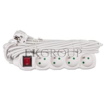 Przedłużacz z wyłącznikiem 4-gniazda z/u 7m /H05VV-F 3G1/ biały P1417-148710