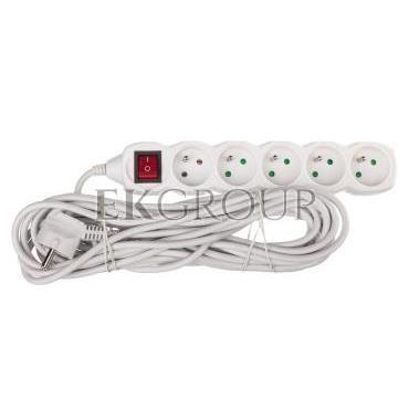 Przedłużacz z wyłącznikiem 5-gniazd z/u 10m /H05VV-F 3G1/ biały P1510-148703