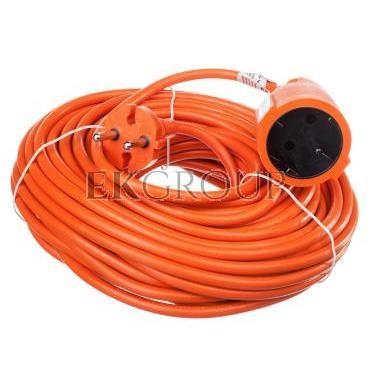 Przedłużacz ogrodowy 1-gniazdo b/u 20m /H05VV-F 2x1/ pomarańczowy P01320-148708