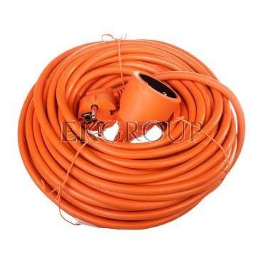 Przedłużacz ogrodowy 1-gniazdo z/u 20m /H05VV-F 3x1,5/ pomarańczowy P01120-148713