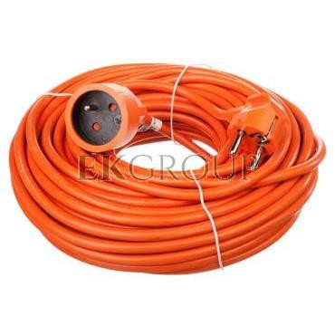 Przedłużacz ogrodowy 1-gniazdo z/u 25m /H05VV-F 3x1,5/ pomarańczowy P01125-148714