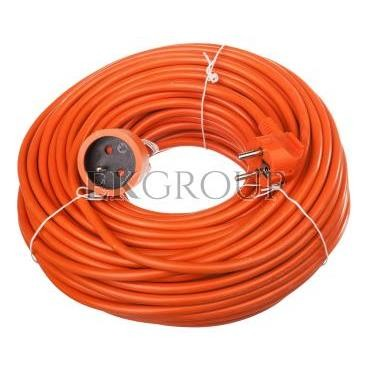 Przedłużacz ogrodowy 1-gniazdo z/u 40m /H05VV-F 3x1,5/ pomarańczowy P01140-148716