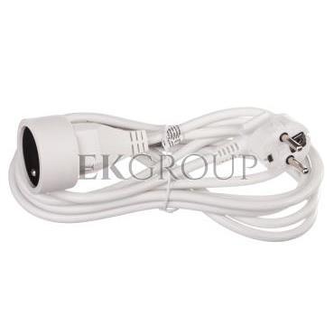 Przedłużacz 1-gniazdo z/u 3m /H05VV-F 3x1/ biały P0113-148718