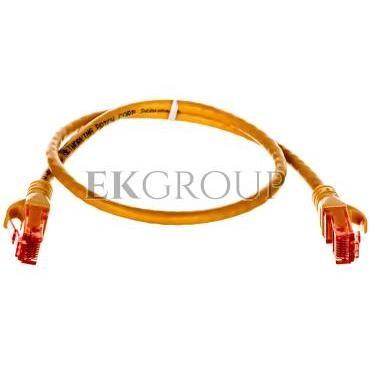 Kabel krosowy (Patch Cord) U/UTP kat.6 żółty 0,5m DK-1612-005/Y-150367