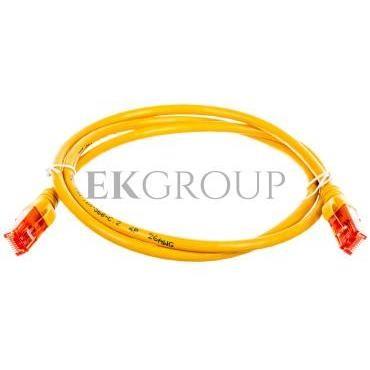 Kabel krosowy (Patch Cord) U/UTP kat.6 żółty 1m DK-1612-010/Y-150370