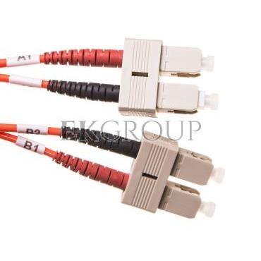 Patch cord światłowodowy SC/SC duplex MM 50/125 OM2 1m LS0H pomarańczowy DK-2522-01-150401
