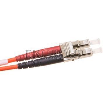 Patch cord światłowodowy LC/LC duplex MM 50/125 OM2 2m LS0H pomarańczowy DK-2533-02-150403