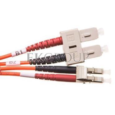 Patch cord światłowodowy LC/SC duplex MM 50/125 OM2 1m LS0H pomarańczowy DK-2532-01-150404