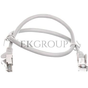 Kabel krosowy patchcord SF/UTP kat.5e CCA szary 0,5m 50143-150429