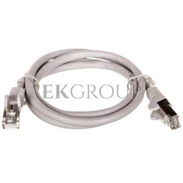 Kabel krosowy patchcord SF/UTP kat.5e CCA szary 1m 50144-150430
