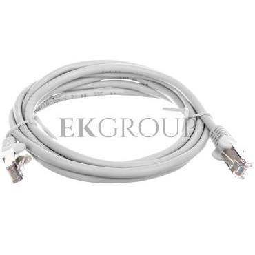 Kabel krosowy patchcord SF/UTP kat.5e CCA szary 2m 50145-150431