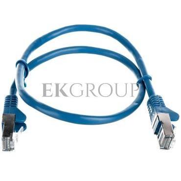 Kabel krosowy patchcord F/UTP kat.5e CCA niebieski 0,5m 50127-150435