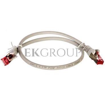 Kabel krosowy patchcord S/FTP (PiMF) kat.6 LSZH szary 0,5m 50885-150436