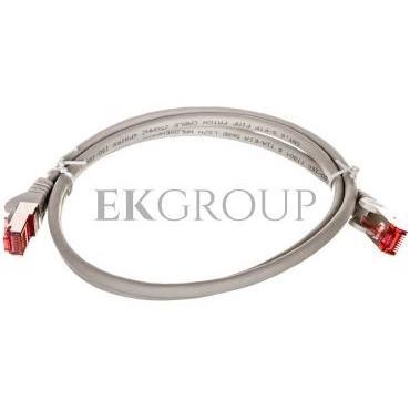 Kabel krosowy patchcord S/FTP (PiMF) kat.6 LSZH szary 1m 50886-150437