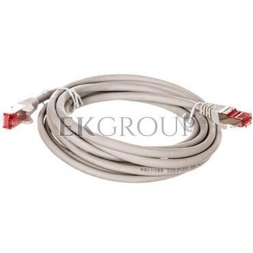 Kabel krosowy patchcord S/FTP (PiMF) kat.6 LSZH szary 3m 50888-150439