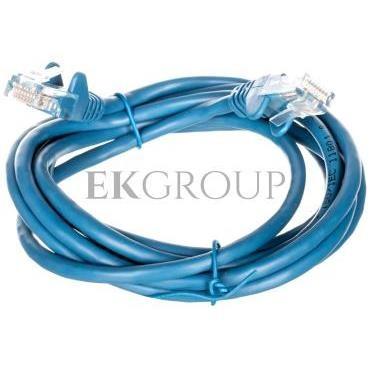 Kabel krosowy patchcord U/UTP kat.5e CCA niebieski 2m 68355-150448