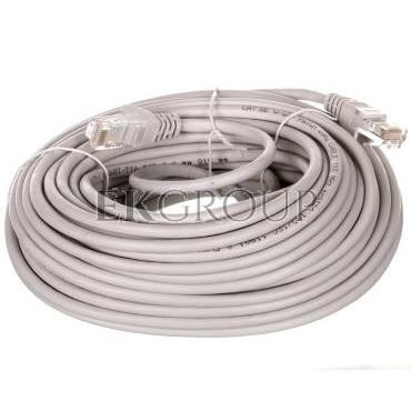 Kabel krosowy patchcord U/UTP kat.5e CCA szary 20m 68362-150450