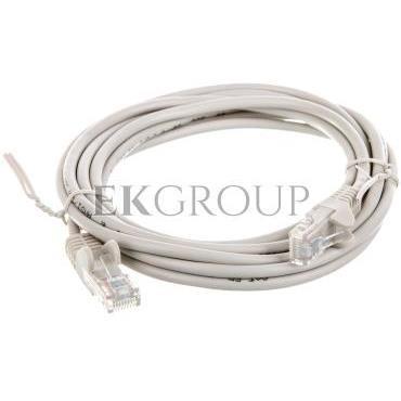 Kabel krosowy patchcord U/UTP kat.5e CCA szary 3m 68367-150451